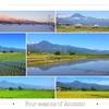 同じ場所から毎月撮影した、安曇野の四季の変化を紹介するよ。