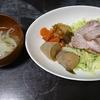 焼豚、玉ねぎスープ