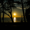 ハイシーズンは夕日もモーレツに綺麗です@カタビーチ