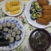 恵方巻の代わりに細巻きといなり寿司。とろろ昆布のお吸い物もおすすめです!