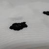 【帯揚げ】白地に黒の絞りが入った帯揚げ