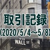 【取引記録】2020/5/4週の取引(利益$291、含み損$-12,751)