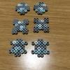 パーラービーズでマインクラフトのダイヤの原石ブロックを作る