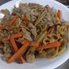 幸運な病のレシピ( 1877 )朝:角煮下茹、鮭、アジ開き、豚バラきんぴら、味噌汁、マユのご飯