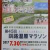 【マラソン】釧路湿原マラソン・30km、2時間02分25秒で完走
