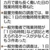 「働き方」法案 野党、提出断念求める - 東京新聞(2018年2月20日)