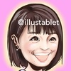 iPadで描いた 小林麻耶さんの似顔絵と似顔絵が出来上がるまで。