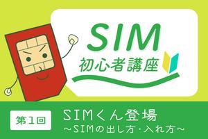 SIM初心者講座・第1回
