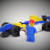【自作LEGO】ウィリアムズF1&ナイジェル・マンセル