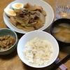 大根と豚肉の炒め煮・大豆の五目煮