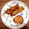 金曜夜のビールのお供 レンコンと鶏皮『惣菜 いちふじ』