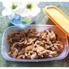 豚こま肉で生姜焼き❣️