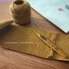 ダルマレース糸#20でバッグ編み始めました