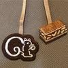 鎌倉紅谷『Bookmark クルミッ子』。お菓子とリスの刺繍が可愛いオリジナルのしおり。