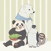 TVアニメ「しろくまカフェ」のイラストを描いたよ♪