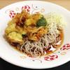 【食レポ】バジル香る夏野菜の冷やしかき揚げそば@いろり庵きらく