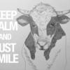 丑年ですので…牛を描きました。
