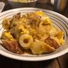 貧乏飯。ちくわの卵とじ、キャベツとベーコンの煮物