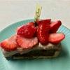 🚩外食日記(☆750)    宮崎   「ニココペッシュ(Sweets Shop Nicoco Peche)」⑥より、【モンブランバクスチーズケーキ】【苺とチョコのタルト】‼️