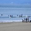 真冬に海水浴。ちょっとだけサーフィン@鵠沼