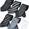 Amazonで激安!一本あたり400円 ビジネスマンサポート 洗えるネクタイ 5本セット