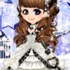 ゲーム「恋してキャバ嬢」のアバター♪グレーのドレス編