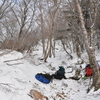 立春の三嶺遊山 稜の道