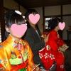 七五三の御祈祷をしに、神社へお参りに行きました。