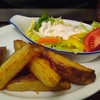 Fried potato & Chicken kiev