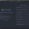 Ubuntu 16.04 LTSにAtomをインストールする