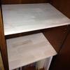 ファルカタ集成材で本棚の棚板を。強度は心配だけど価格は安いのが特徴か