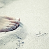 砂にまみれた砂を呑む