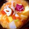 秋の味覚てんこもり塩麹トマト豚汁