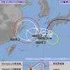 台風12号は31日06時現在で屋久島の南南東約160kmにあって中心気圧は994hPa・最大風速は18m/s・最大瞬間風速は25m/s!台風12号はループのち再び暴風域を伴うおそれ!!