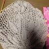 糸のきんしょう 10/2綿薄グレーで編むテーブルクロス 4