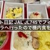フライト日記 JAL JL745でフィリピン マニラへ行ったので機内食を紹介