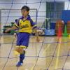 九龍はサッカー教室のミニゲームで2回ゴールを決めて活躍しました。