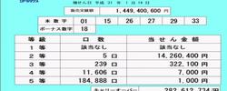 第1345回ロト6抽選結果(2019年1月14日)キャリーオーバー発生!!