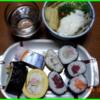 16/12/31の晩ご飯(お寿司と年越しそば)