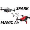 【ポータブルドローン】DJI Mavic Air とSparkのスペック比較まとめ【どっちがおすすめ?】