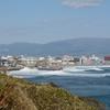 住吉漁港で波しぶき…
