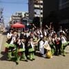 熱気あふれる、どまつり勝川パレード会場でした