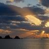 加茂島の日没