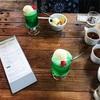 新緑のMACHITOKI(マチトキ)さんと、美しいクリームソーダ。