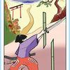 今日の日本昔話タロット 「桃太郎Ⅶ」鍛錬