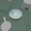 【販売】風呂道具セット(風呂桶、手桶、イス) 3Dモデル