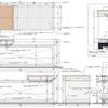 ディスプレー什器の外観図と各部詳細図02