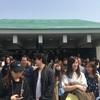 大阪城公園で花見をしながら屋台で物を食べたりしながら一人オフ会を開催したよ