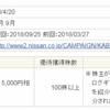 日産自動車(7201) 3月・9月 100株(売却済み)