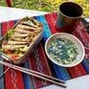 メスティンで簡単キャンプ飯!100均栗御飯と豪快オイルサーディン丼!